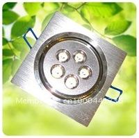 5W led downlights, Epistar 5W, square led downlight, voltage AC 85~265V, Luminous Flux 100lm~110lm/W