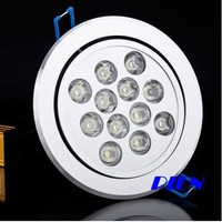 A+Quality 12W LED Ceiling Light Down light Lamp Ceiling Recessed Lights Cool White|Warm White 85V-265V by Express 6pcs/lot