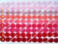 "Wholesale~2.5"" Rose Chiffon lace flower , Shabby Chic Frayed flowers 150yards/lot"