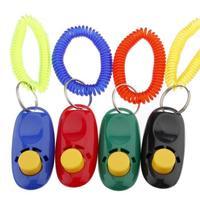 20pcs/lot  Dog Pet Click Clicker Training Trainer Aid Wrist Strap