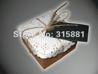 2012 New Gift paper boxes, small kraft paper boxes, jewelry paper boxes 100set/lot  6.3cmX6.3cmX3.2cm