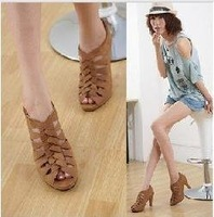 Free shipping , 2011 hotsales ladies fashionable weave Roman sandal .ladies fashion shoes Wholesale and retail