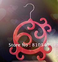 Luxury jewel ABS plastic velvet flocked non-slip scarf & Luxury jewel   hanger