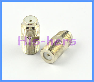 Free shipping 10pcs F adapter Female to Female Coaxial Barrel Coupler Adapter connector Coax Cable(China (Mainland))