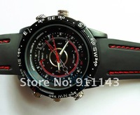 Free shipping build-in 8GB , waterproof  Watch  camera,  with retail box with 1 pcs