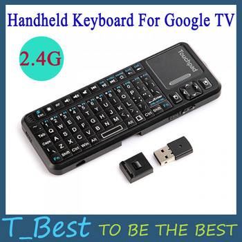 2.4G Wireless iPazzPort Mini Handheld Keyboard + Laser Light Pen for Google TV,Free Shipping+Drop Shipping