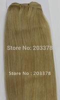 Hair Extension 55cm 22inch hair weft weaving extensions silk straight  #16 Dark Honey blonde Hair Products