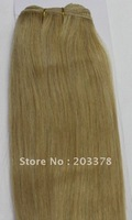 55cm 22inch 100% Indian human hair weft weaving extensions silk straight  #16 Dark Honey blonde