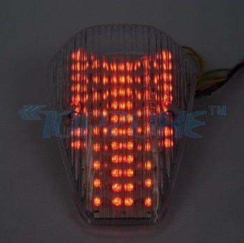 SMOKED Lens LED Motorcycle Tail Light Brake Light For HONDA VTX 1300/1800 CUSTOM 2002