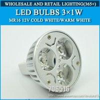 Wholesale 50PCS MR16 3W DC/AC12V high power led Bulb Lamp Cold white/warm white Free Shipping