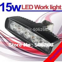 NEW flood TYPE 15W Black LED Off road Slim Work Light Lamp 12V/24V for car Truck  Boat Marine Truck Deck