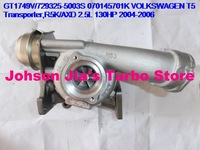 NEW GT1749V/729325-5003S 070145701K Turbocharger for VOLKSWAGEN T5 Transporter,Engine:R5K/AXD 2.5L 130HP 2004-2006