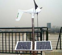 500W wind solar hybrid power system ,400W wind turbine+100W solar pannel+charge controller+500/1000W pure sine wave inverter