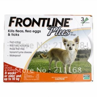 2014 new packaging Frontline Plus L Dogs 0-10kg Dog Flea and Tick Remedi 1 box/lot free shipping(China (Mainland))