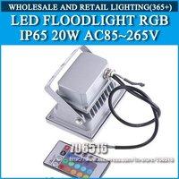LED Floodlight RGB Remote control color IP65 AC85-265V 20W Free shipping/DHL