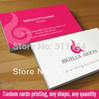 art paper business card matt visit  name display cards custom printing Free shipping good quality Best price