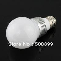 Freeshipping 3W E27 RGB Globe LED Light Bulb with Remote Control 85V-265V 10pcs/lot +Dropshipping