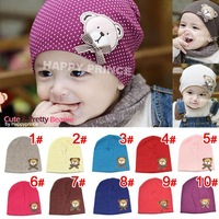 hot fashion spring& autumn baby hat cotton baby bear hat baby cap infant hat infant cap headress wholesale free shipping