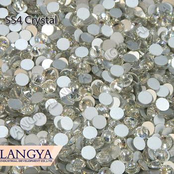 Flatback SS4 Loose Stones More Shiny Crystal Glue Fixed 1440pcs Non Hotfix Nail Art Rhinestones