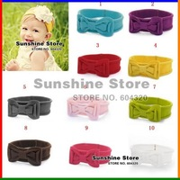 Sunshine store #2B1982 10pcs/lot  wholesale TOP BABY Headband! bowknot headband, baby hairband, children hair bow head band CPAM