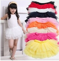 2014 new arrival girls tutu skirts kids baby fashion skirt childrens pettiskirt kids silk ballet skirt for girl