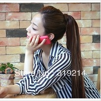 free shipping 18''-30''100% human hair horstail ponytail clips in/on  hair extension #06,100g