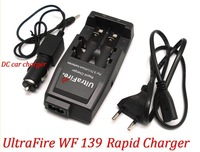 100% Original UltraFire WF139 Rapid Charger For 18650 3.7V Lithium Rechargeable Battery+ 1pcs DC car charger
