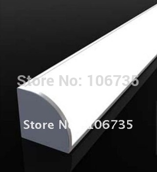 MOQ 10meters Fedex Free shipping! aluminum led corner strip light linear profile milky cover with 45 degree light angle