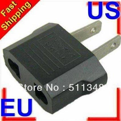 free shipping 20pcs/set New Arrival EU to US usa power plug adpter Power Plug Charger Travel Converter(China (Mainland))