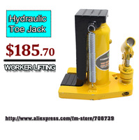 Free Shipping!!!10T Hydraulic Toe Jack/mechanical jack
