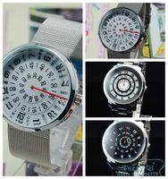2014 New Fashion White Black Men MENS Three Circle Stainless Quartz Wrist Watch Watches