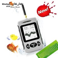 FFW718 Wireless Portable Dot Matrix Fish Finder Sonar Radio big LCD 2.8 inch display gift New Zealand russian brazil drop ship