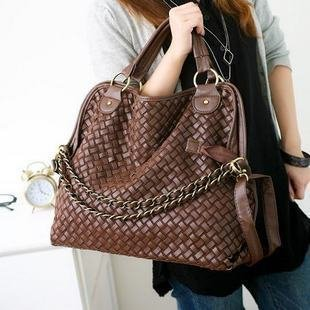 Special Offer! 2013 Summer new Hand woven chain shoulder bag /Three ways handbag Four colors Free Shipping (1pcs) PG055(China (Mainland))