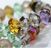6mm Mix Color Crystal Beads Rondelle Loose Glass Bead Free Shipping HA292