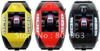 Free Shipping F3 Tri Band Sports Wrist Watch Phone with Bluetooth MP3/MP4 Player