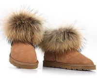 Snow boots Free shipping 5 colors sheepskin fur snow boots , winter boots for women size US 5- 9