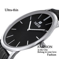 Super-thin Type 100% Original NEOS Fashion Elegant Men/Lady Wrist Watch with 100% leather strap watch Free shipping  Cool