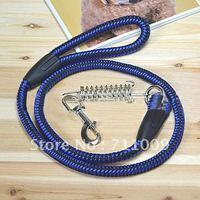 Wholesale Nylon Spring Wave Snap Fastener Dog Leash, Size 1, 2, 3, 4 Free Shipping