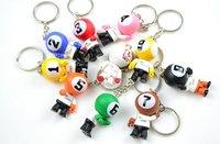 9-ball billiard key rings, christmas ornaments,billard accessories,promotional key chains