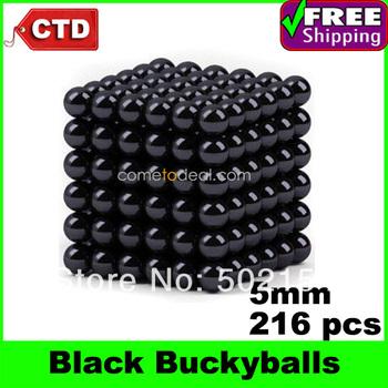 Black 216pcs Diameter 5mm Neocube Magic Cube Magnetic Balls Buckyballs
