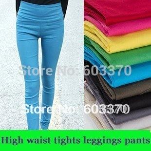 Mode Sexy femmes Leggings taille haute Leggings pantalons dames haute élastique pantalons 17 couleur en stock livraison gratuite