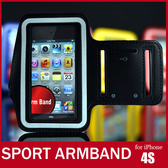 Soft Belt Sport Armband For iPhone 4S Colorful Arm Band For iPhone 4 3G 3GS Travel Accessory For iPod itouch Video FREE SHIPPING(China (Mainland))