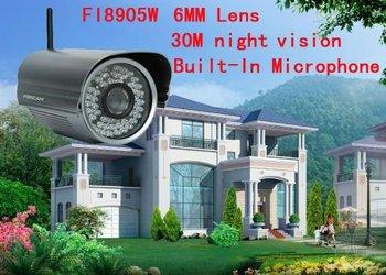 2x Foscam FI8905W Outdoor Night Vision Wireless Security DDNS IP Cam Wifi Camera