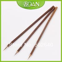 Wholesale 100pcs/bag Weasel Hair Brush Bamboo Handle Brush Nail Art Painting Brushes Free Shipping