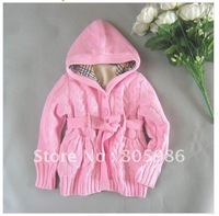 Freeshipping Wholesale 3 pieces !Girls sweatercoat 100% cotton fashipn and nice very good quality,children's sweater