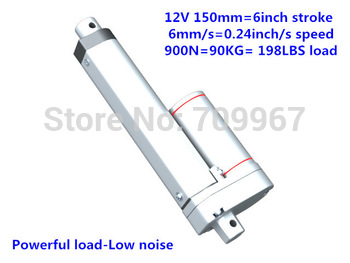 900N load 6mm/sec speed 150mm stroke 12V 24V DC mini small electric linear actuator tubular motor hot sell