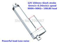 900N load 6mm/sec speed 150mm stroke 12V 24V DC mini small electric linear actuator tubular motor hot sell