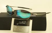 Top quality Men Women polarized juliet sunglasses gray frame jade iridium polarized  04-114A 56mm in original case