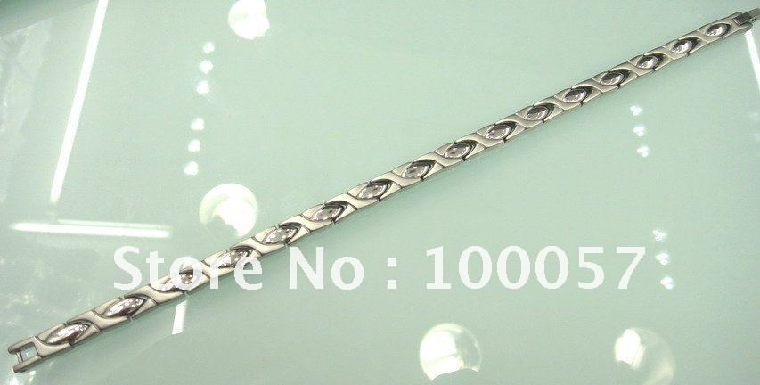 Free shipping+100%stainless steel+2000 gauss Magnetic+ Charm bracelet + Fashion jewelry  The best Christmas Gift