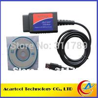 Free ship Wholesales OBD2/OBDII scanner ELM 327 car diagnostic interface scanner tool ELM327 USB